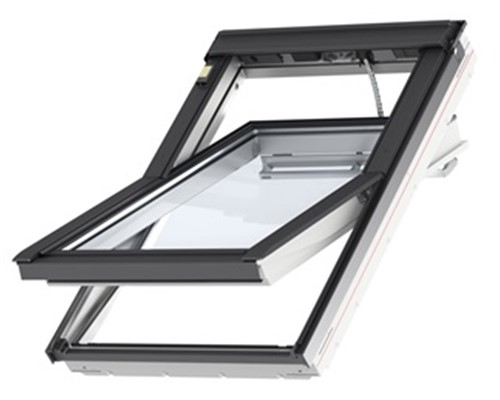 velux ggl white painted integra electric roof windows extons roofing supplies. Black Bedroom Furniture Sets. Home Design Ideas