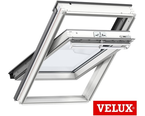 velux ggl white painted centre pivot roof windows extons roofing supplies. Black Bedroom Furniture Sets. Home Design Ideas