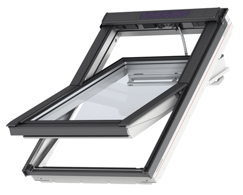 velux ggu white polyurethane solar powered windows extons roofing supplies. Black Bedroom Furniture Sets. Home Design Ideas